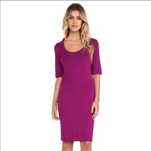 DVF magenta cotton dress